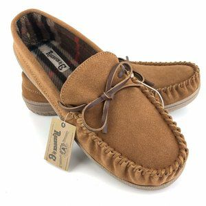 Roebuck Paxton Men's Slippers Tan Suede Moccasins